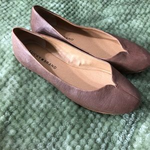 Lucky Brand leather flats size 7.5M